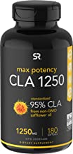 Max Potency CLA 1250 (180 Softgels) with 95% Active Conjugated Linoleic Acid   Weight Management Supplement for Men and Women   Non-GMO, Soy & Gluten Free