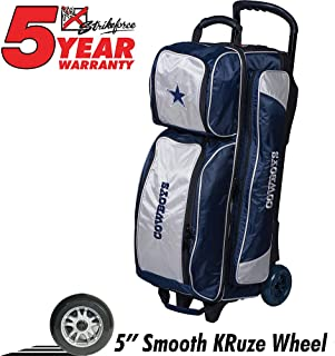 KR Strikeforce Bowling Bags Dallas Cowboys 3 Ball Roller Bowling Bag, Blue/Gray