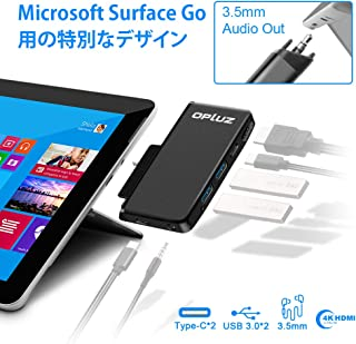 Surface Goドッキングステーション、Surface Go用USB C HDMIアダプター、Opluz 6-in-1 USB Cハブアダプタードングル、4K USB C to HDMI、2 USB 3.0ポート、Typc C 60W電源供給、Typc Cポート、Audio Out