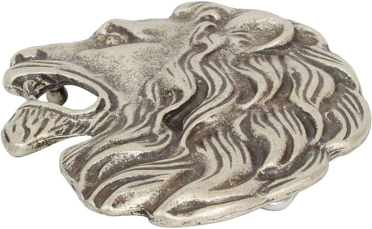 LARP und Mittelalter-Outfit Buckle Wechselschlie/ße G/ürtelschlie/ße 40mm Massiv Brazil Lederwaren G/ürtelschnalle L/öwenkopf 4,0 cm