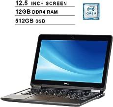 2019 Premium Dell Latitude E7240 Ultrabook 12.5 Inch Business Laptop (Intel Dual Core i7-4600U up to 3.3GHz, 12GB DDR3 RAM, 512GB SSD, Intel HD 4400, WiFi, HDMI, Windows 10 Pro) (Renewed)