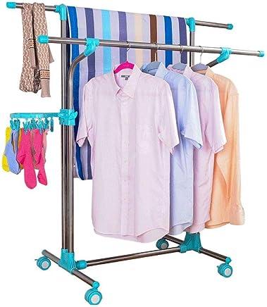 Color : Wood, tama/ño : 60cm Yzibei Perchero Dormitorio Mobile Coat Rack Nan Piso de bamb/ú Percha Simple Hogar Sala de Estar Ropa Multifuncional Rack para pasillos de oficinas en casa