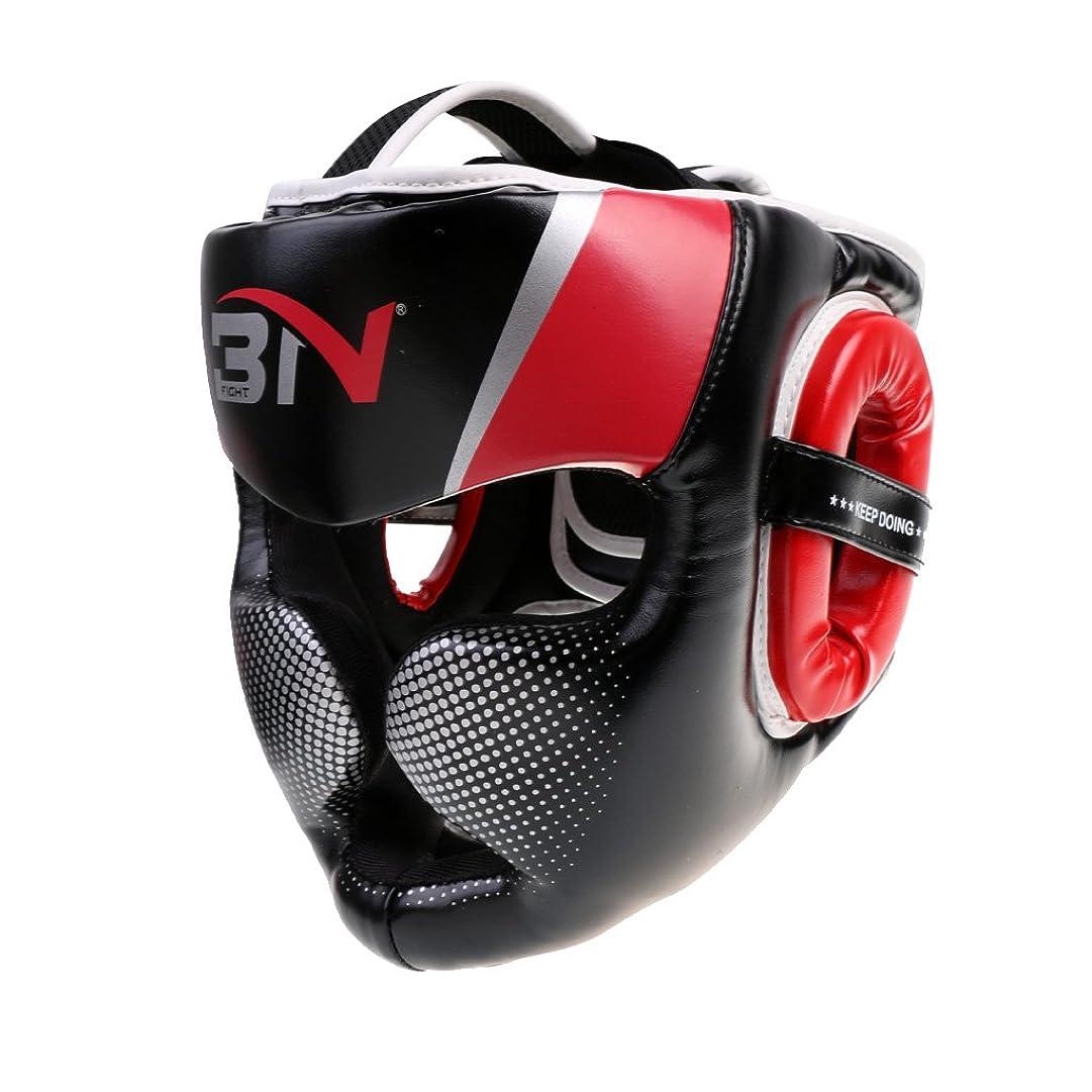 食用北極圏俳優Lovoski  取り外し可能 ヘッドギア ボクシング ヘルメット 格闘技 頭部保護 プロテクター  - レッド