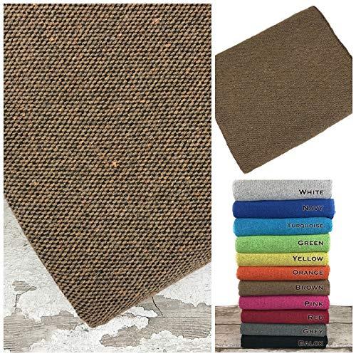 Funda de piel para sofá, 100% algodón, multiusos para playa, gimnasio, yoga, viajes, camping, picnic, manta de tela resistente al aire libre, 130 x 220 cm, color marrón