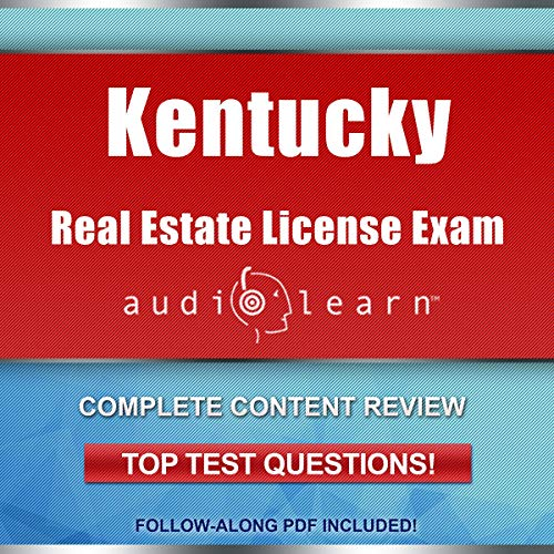 Kentucky Real Estate License Exam AudioLearn audiobook cover art