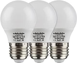 ChiChinLighting- Pack of 3 Bulbs 12v 7watt Low Voltage LED Light Bulb- E26/E27 Light Bulb 12v Cool White Color 6000k 7w Light Bulb- 40 Watt Halogen Bulb Equivalent- Off Grid Solar System RV Marine