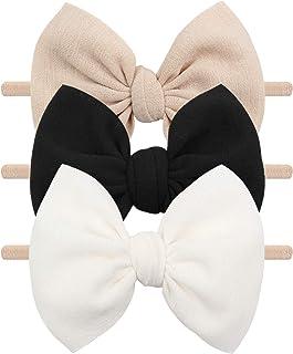 Baby Girls Nylon Headbands YanJie Hair Bows Hairbands Handmade Hair Accessories for Newborn Infant Toddlers Kids