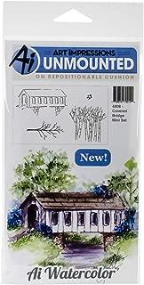 Art Impressions Cling Rubber Stamp Sets Covered Bridge, 3