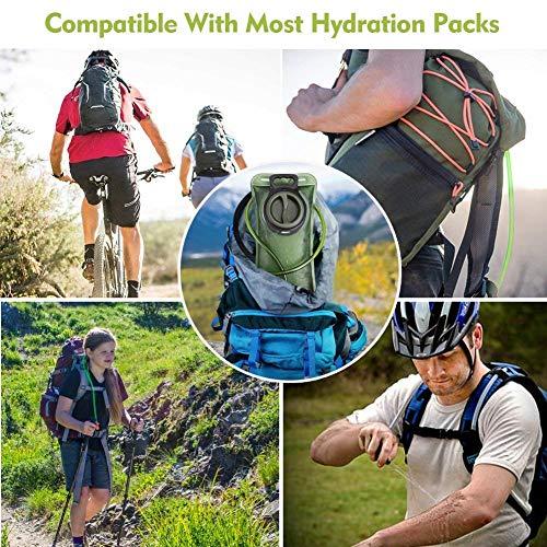 Hydration Bladder 2 Liter Leak Proof Water Reservoir, Military Water Storage Bladder Bag, BPA Free Hydration Pack Replacement, for Hiking Biking Climbing Cycling Running … (Green)
