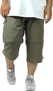[ファーストダウン] カーゴパンツ 大きいサイズ メンズ 2WAY 無地 ハーフパンツ ショートパンツ