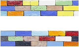 WEIFENGX Decorativos Adhesivos para Azulejos Pegatina de Pared - Personalidad Creativa Retro Cenefa Autoadhesivo- para Bañ...