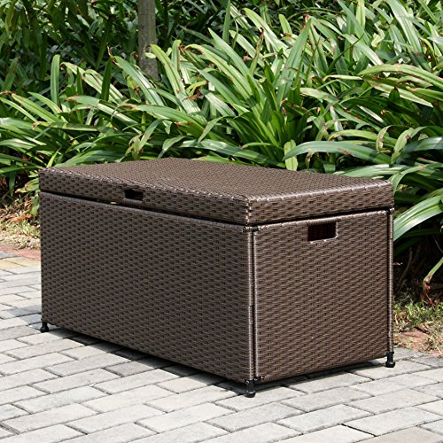 Hot Sale Wicker Lane ORI003-A Outdoor Espresso Wicker Patio Furniture Storage Deck Box