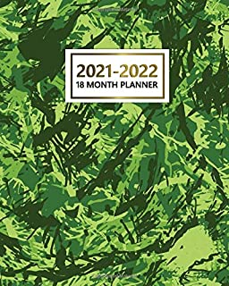 2021-2022 18 Month Planner: Cool Weekly Planner, Organizer with Vision Boards, To Do Lists, Notes, Holidays | 18 Month Cal...