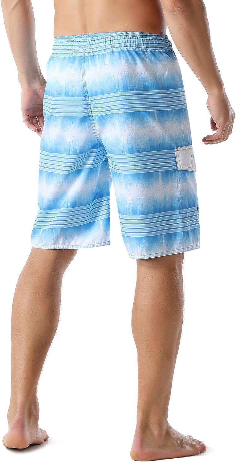 Nonwe Mens Beachwear Summer Holiday Swim Trunks Quick Dry Striped