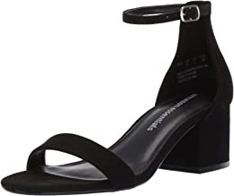 Amazon Essentials Women's Two Strap Heeled Sandal