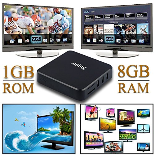Juning, box TV 6.0, Android, Wi-Fi, da 1GB RAM e 8GB ROM, QuadCore Cortex A53,2,4Ghz