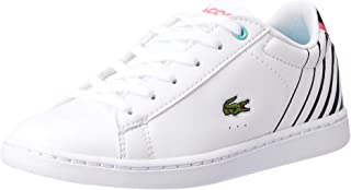 Lacoste Carnaby EVO 118 2 Kids Fashion Shoes, WHT/BLK