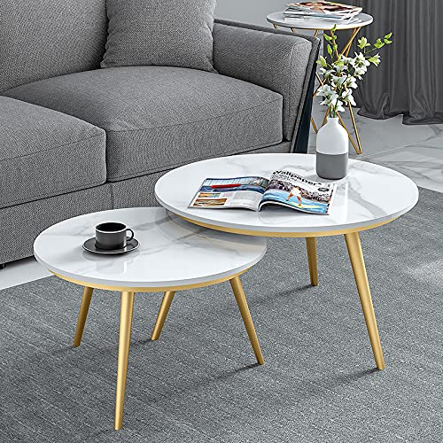 Mesa de centro de mármol, mesa de decoración de anidación, mesa de centro de sala de estar, mesa auxiliar de sofá, mesita de noche para dormitorio, mesa de jardín/B / 80cm