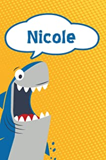 Nicole: Personalized Shark Draw and Write Diary journal notebook featuring 120 pages 6