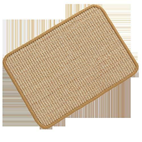 Alfombrilla para gatos y gatos de sisal para arañar el sofá, alfombra de lino (40 x 60 cm)