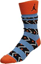 Jordan AJXI Riverwalk Crew Socks, orange/blue, Large