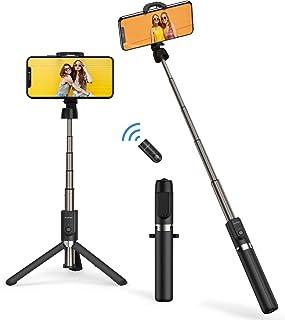 ATUMTEK Bluetooth Selfie Stick Driepoot, 360° Rotatie Mini Verlengbare Selfie Stick met Draadloze Bluetooth Remote voor iP...