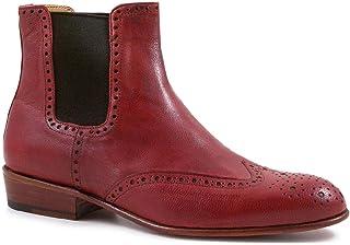 Leonardo Shoes Tronchetti Rossi Donna Punta Coda di Rondine Artigianali - Codice Modello: Pina 044 Rosso