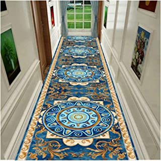 Non-Slip Carpet YANZHEN Hallway Runner Rugs Floral Print Colourfast Moisture-Proof Non-Slip Washable Soft 7mm Thick Polyes...