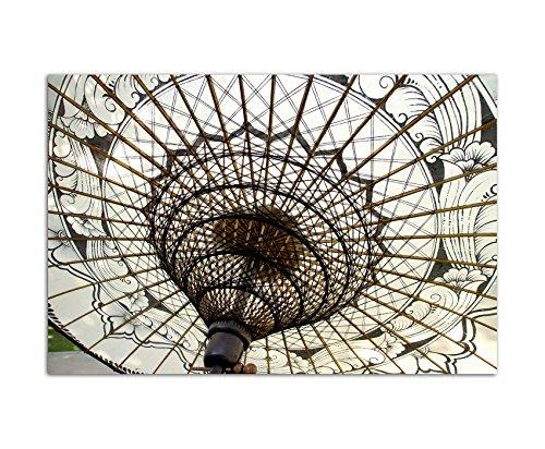 120x80cm - WANDBILD Schirm Souvenir China handgemacht - Leinwandbild auf Keilrahmen modern stilvoll - Bilder und Dekoration