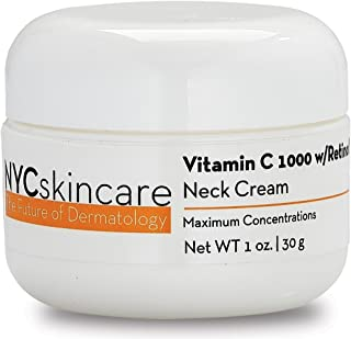 Vitamin C w/Retinol Neck Cream | w/Hyaluronic Acid, Squalane & Antioxidants | Helps to Smooth Appearance of Wrinkles & Fade Appearance of Dark Spots for a More Youthful-Looking Neck & Chest | 1 fl o