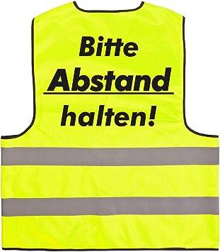Warnweste Set Halte Abstand Sicherheitsweste Signal Weste Auto Joggen Laufweste Erwachsene Reflektor Gelb Mit Klettverschluss Xl 10 Stück Baumarkt