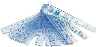 Rannb Plastic Feeler Gauge 0.05mm to 3mm Metric Gap Measuring Tool 21 Leaf