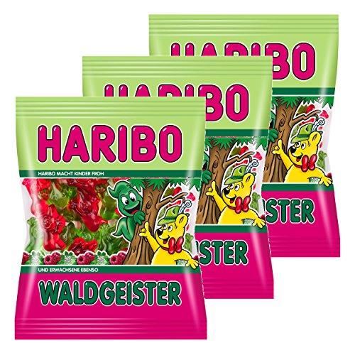 Haribo Waldgeister, 3er Pack, Gummibärchen, Weingummi, Fruchtgummi, Im Beutel, Tüte