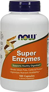 NOW Foods Supplements, Super Enzymes, Formulated with Bromelain, Ox Bile, Pancreatin and Papain, Super Enzymes, 180 Capsules