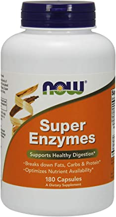 NOW Supplements, Super Enzymes, Formulated with Bromelain, Ox Bile, Pancreatin and Papain, Super Enzymes,180 Capsules