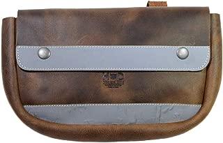 Hide & Drink, Durable Leather Reflective Bike Pannier/Bicycle Handlebar Storage/Bicycle Bag/Outdoors Essentials, Handmade :: Bourbon Brown