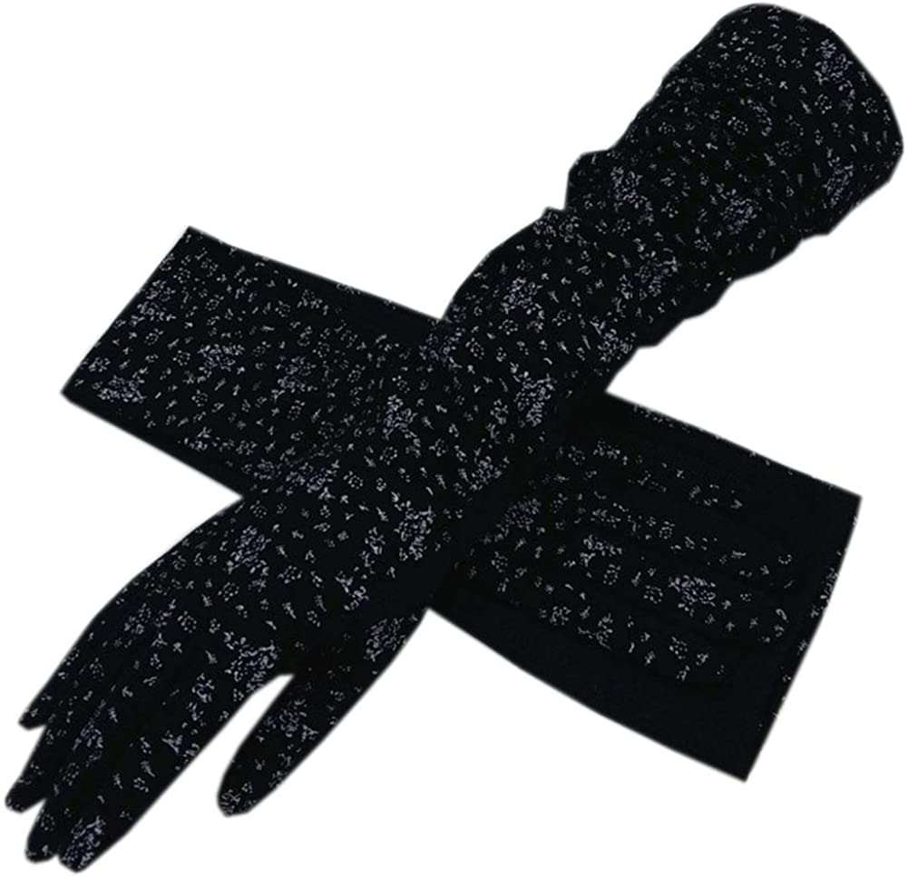 Summer UV Sun Protection Long Gloves Women Driving Gloves Long Arm Sleeves Cotton Breathable UV Protection Long Sun Gloves