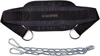 Gymforward Weighted Dip Belt Chin Up Belt with Chain Muscle Training Pull Up Belt Waist Back Support
