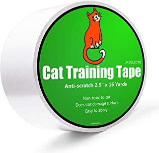 Anti-scratch Cat Tape for Furniture - Stop Cat from Scratching Couch,Corners of Chair,Door Frame, Counter Tops and Carpet - Clear Double Sided Tape for Cat Scratching Cat Training Tape 2.5