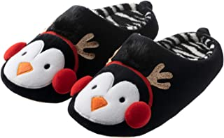 Mens and Womens Cute Fuzzy Animal Slippers Memory Foam Fun House Slippers for Halloween Christmas
