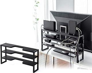 サンワダイレクト モニター裏 収納ラック コード配線 幅60cm 3段 総耐荷重7.5kg 200-STN048