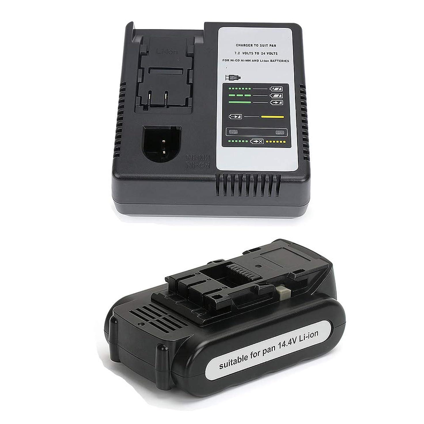 いらいらするドキュメンタリー返還【POWERGIANT】Panasonicパナソニック 14.4V 電池パック+充電器 EZ9L45 EZ9L44 EZ9L42 EZ9L41 EZ9L40 リチウムイオンバッテリー 2.0Ah 電動工具用互換バッテリー 長期保証