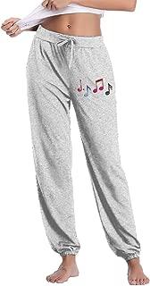 Women's Waist Elastic Funny Music Notes Figure Casual Trousers Yoga Pants Sweatpants