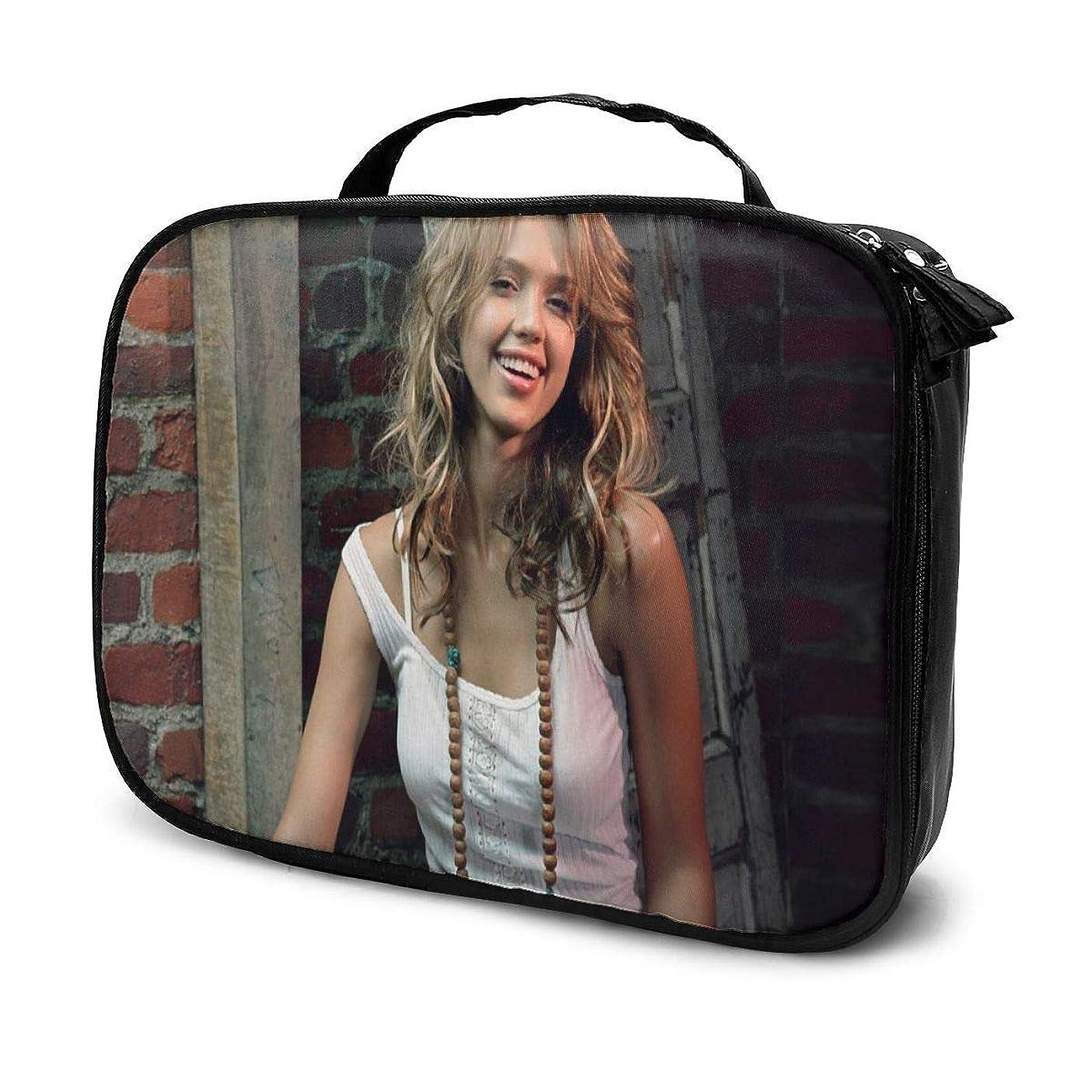 スクラッチに向かってスイス人化粧ポーチ 俳優Jessica Alba 女性化粧品バッグ ビューティー メイク道具 フェイスケアツール 化粧ポーチメイクボックス ホーム、旅行、ショッピング、ショッピング