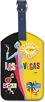 South Seas Isles by Lawler Pacifica Island Art Leatherette Luggage Baggage Tag