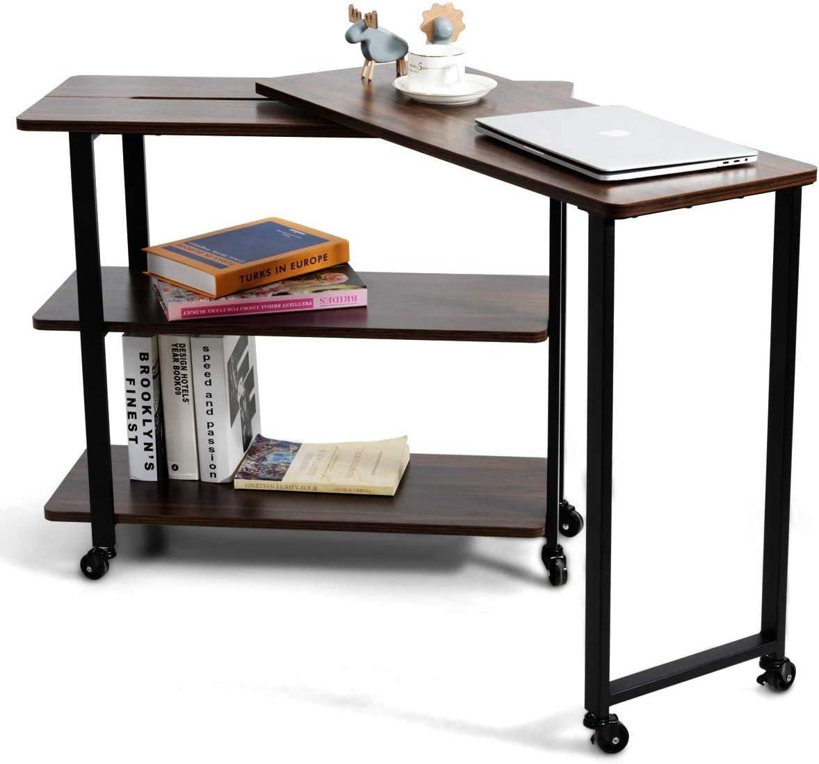 直営店 Nightcore 360°Rolling Desk Free Sofa Side Table Rotating 人気商品