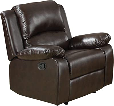 Coaster Home Furnishings Boston Upholstered Recliner Two Tone Brown