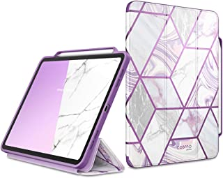 i-Blason Cosmo Case for New iPad Pro 12.9 Inch (2020 Release), Full-Body Trifold Stand Protective Case Smart Cover with Au...