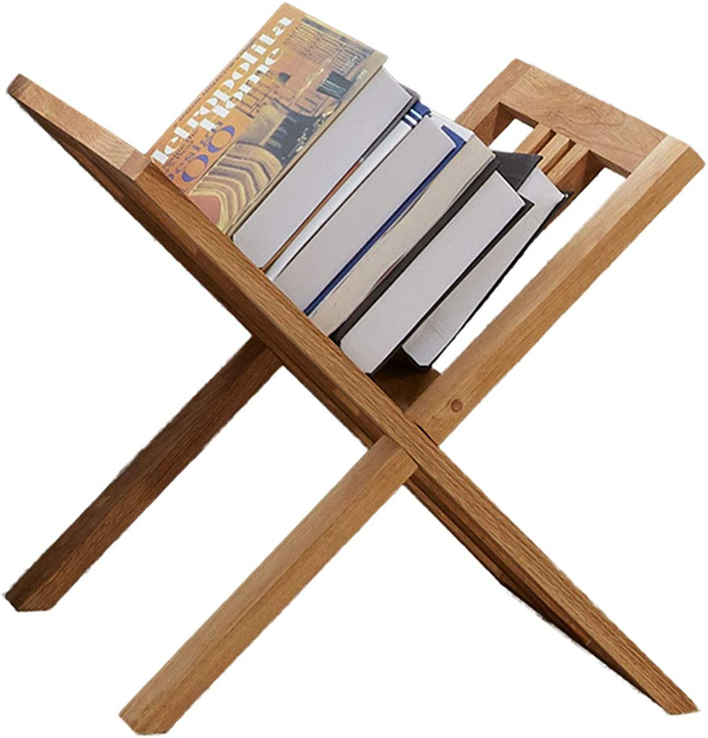 CL Solid Wood Floor-Standing Creative Multi-Function Bookshelf Storage Rack 39X36X35cm Bookshelf