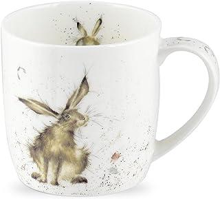 Portmeirion Home & Gifts MMKE5629-XS Good Day (Hare) enkele mok, meerkleurig, 0.31l